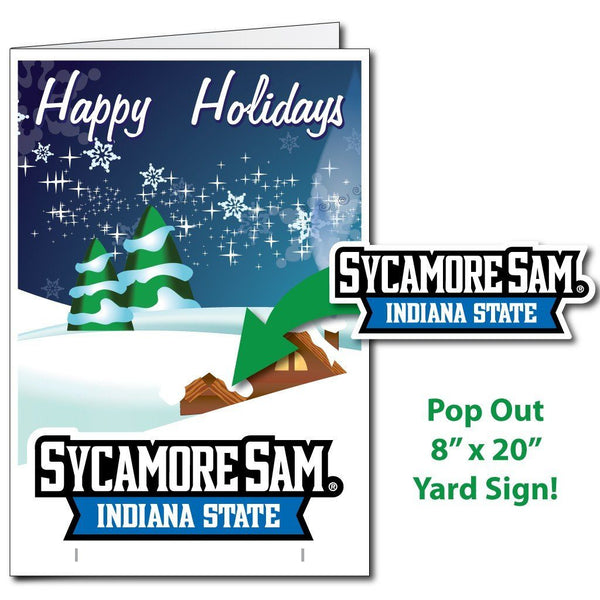 Indiana State University 2'x3' Giant Holiday Greeting Card Plus Yard