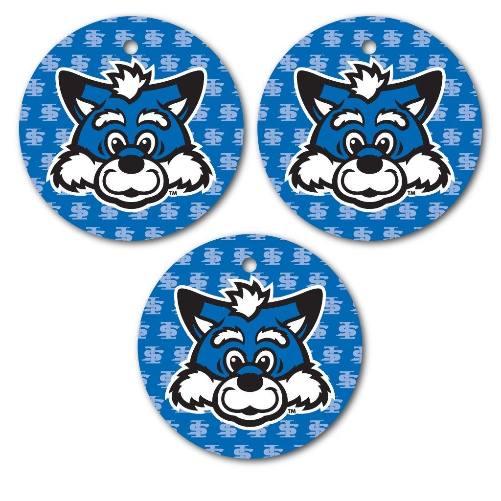 Indiana State University Ornament - Set of 3 Circle Shapes - FREE SHIPPING