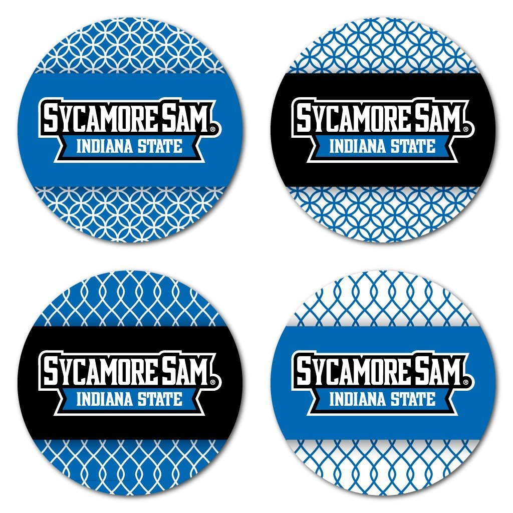Indiana State University Patterned Coaster Set of 4 - FREE SHIPPING