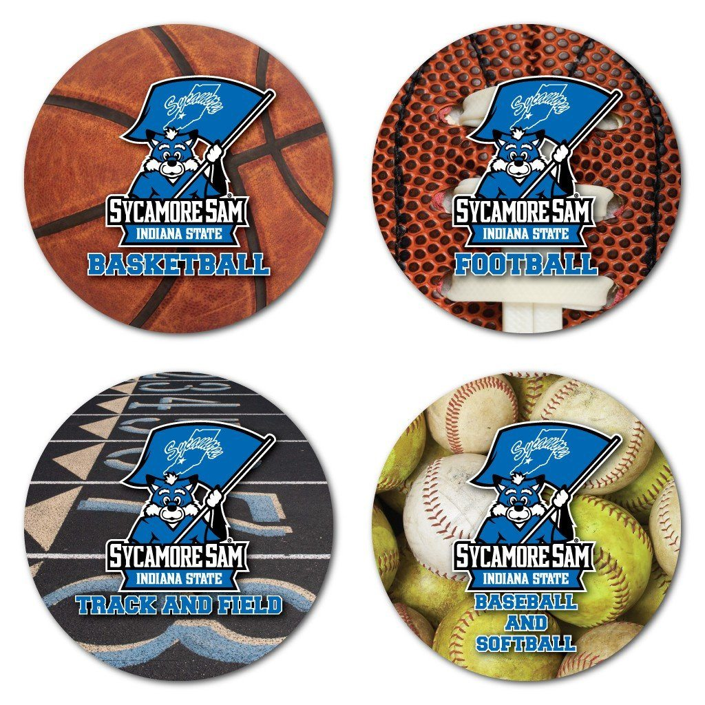 Indiana State University Sports Design Coaster Set of 4 - FREE SHIPPING
