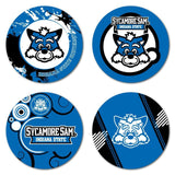 Indiana State University Coaster Set - Fun Designs - Set of 4