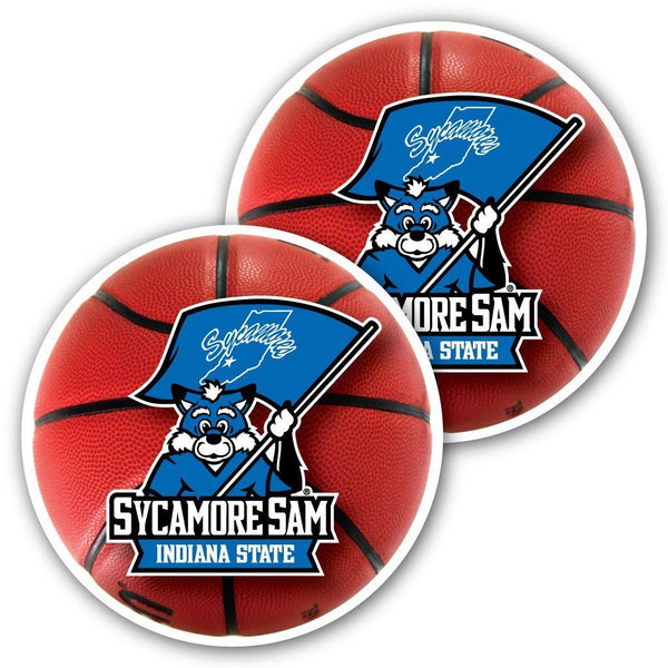 Indiana State University - Window Decal (Set of 2) - Basketball