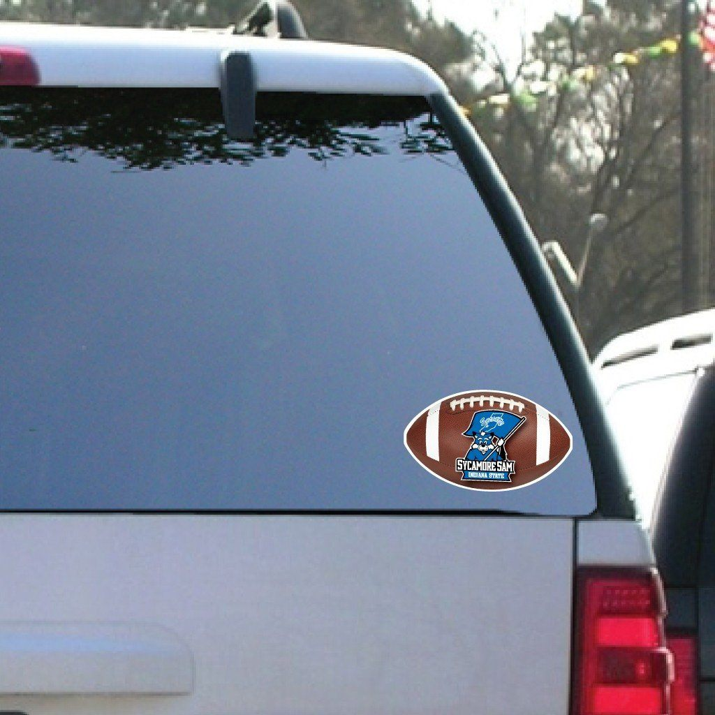 Indiana State University - Window Decal (Set of 2) - Football