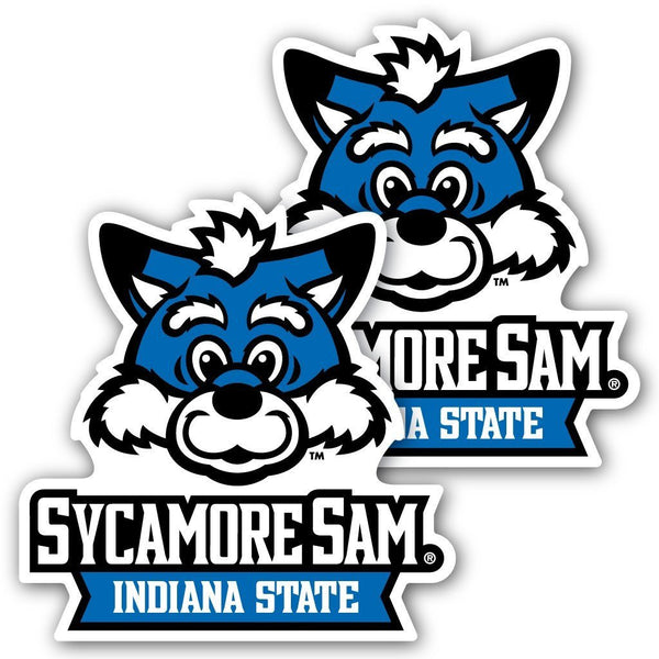 Indiana State University - Window Decal (Set of 2) - Sycamore Sam