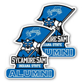 Indiana State University - Window Decal (Set of 2) - Alumni