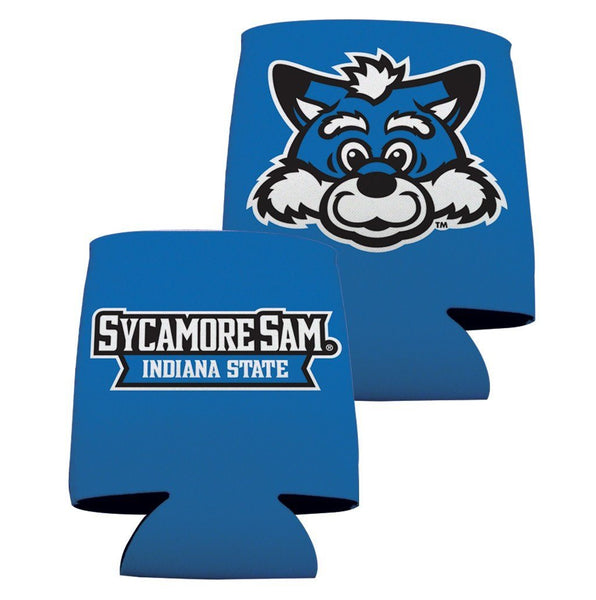 Indiana State University Can Coolers- Blue Design 1