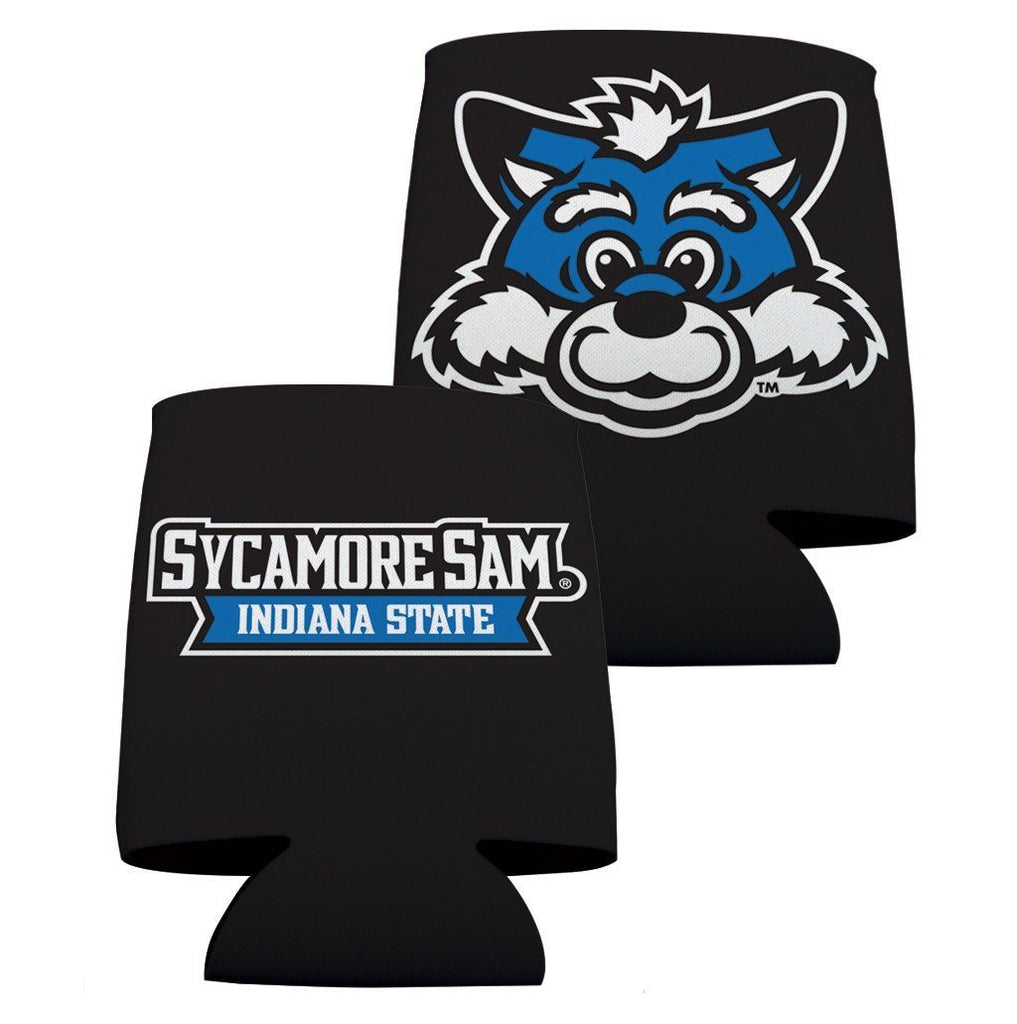 Indiana State University Can Coolers - Black Design 2 FREE SHIPPING