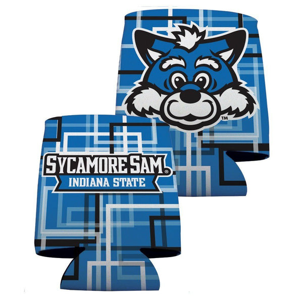Indiana State University Can Coolers - Squares Design 5
