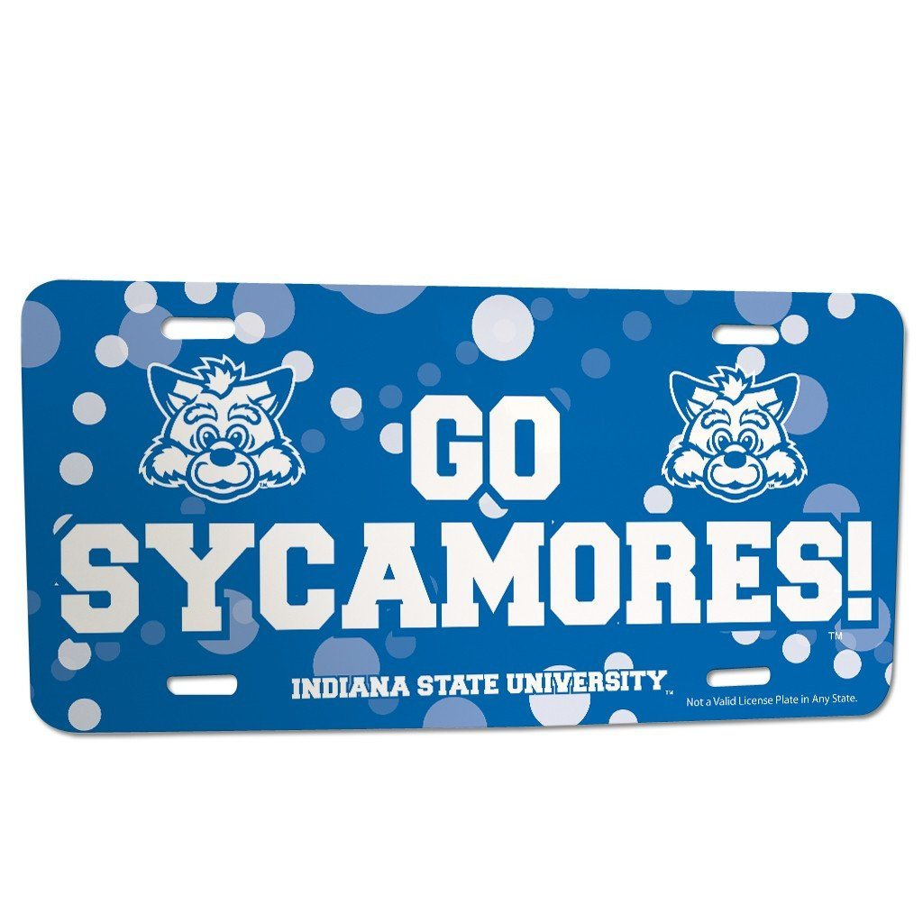 Indiana State University - License Plate - Go Sycamores!