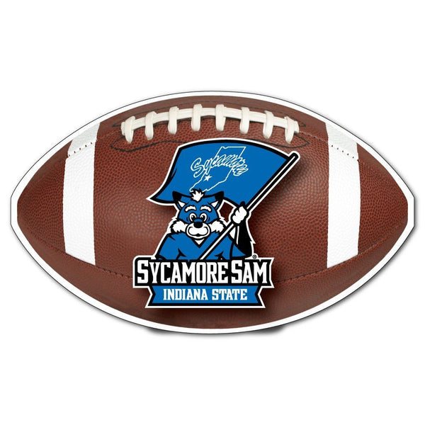 Indiana State University - Football Shaped Magnet