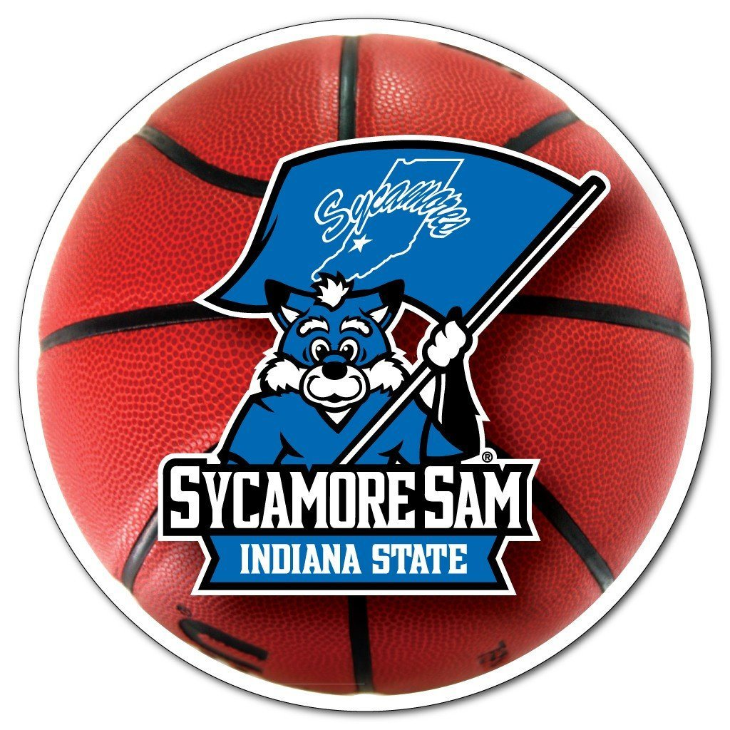 Indiana State University - Basketball Shaped Magnet