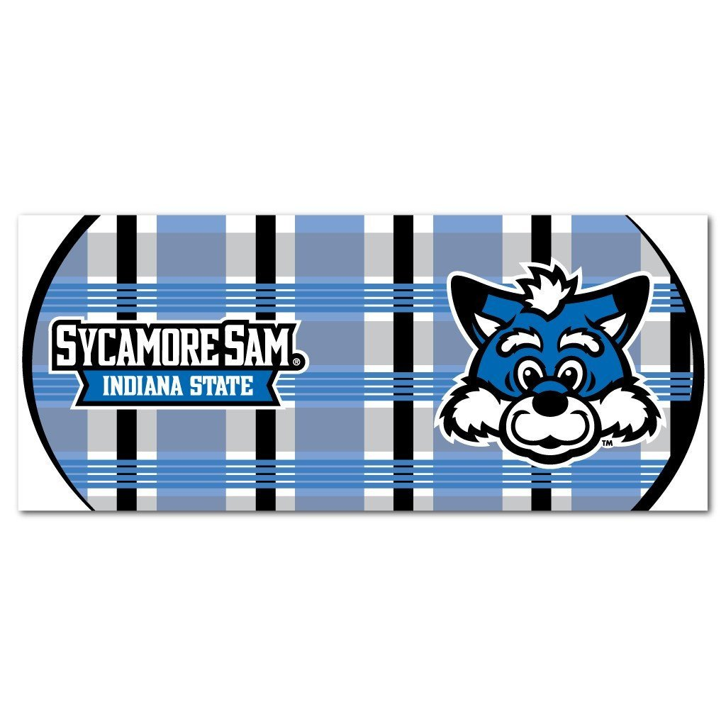 Indiana State University 15oz Coffee Mug - Plaid Background