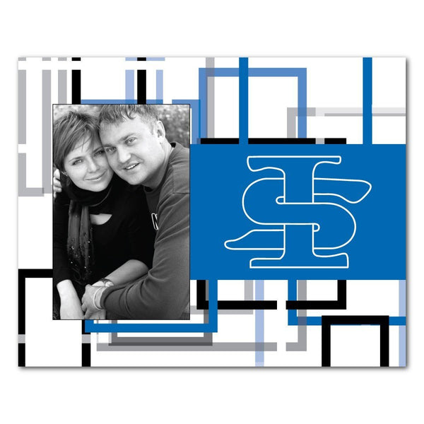 "Indiana State University Picture Frame "" Squares Design"