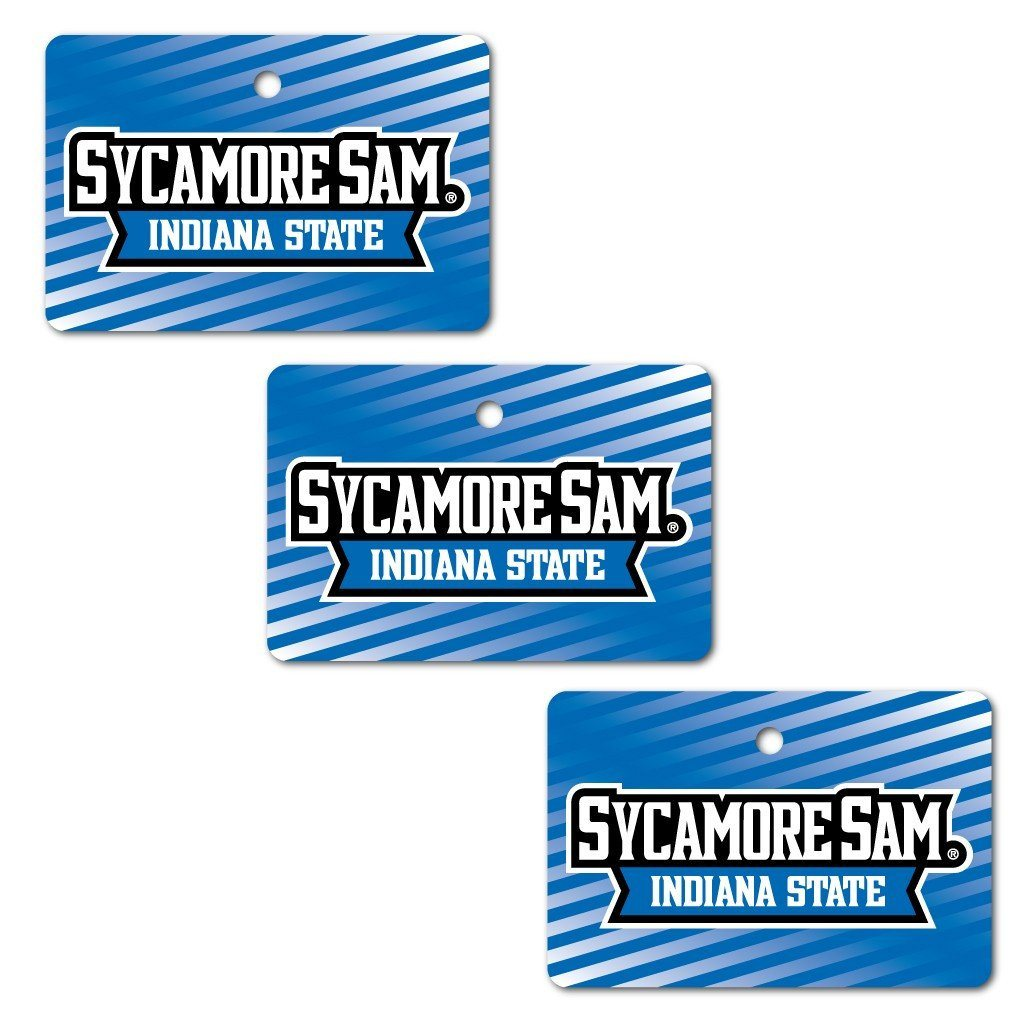 Indiana State University Ornament - Set of 3 Rectangle Shapes - FREE SHIPPING