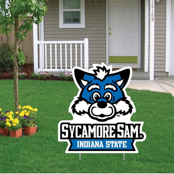 A Indiana State University yard sign