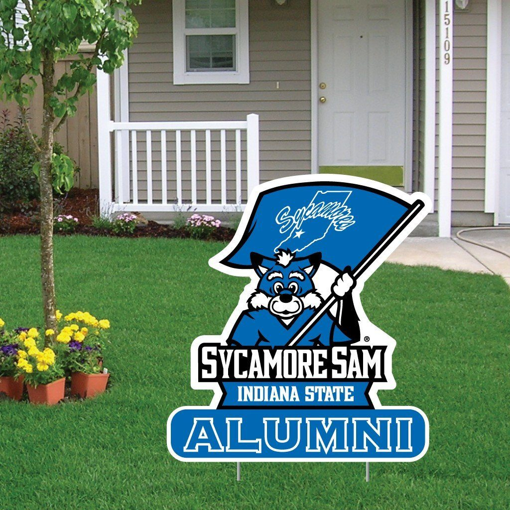 Indiana State University Alumni Shaped Plastic Yard Sign - FREE SHIPPING
