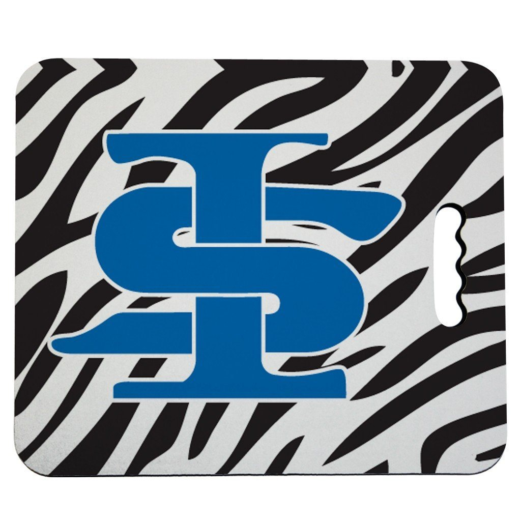 Indiana State University Stadium Seat Cushion - Zebra Print Design
