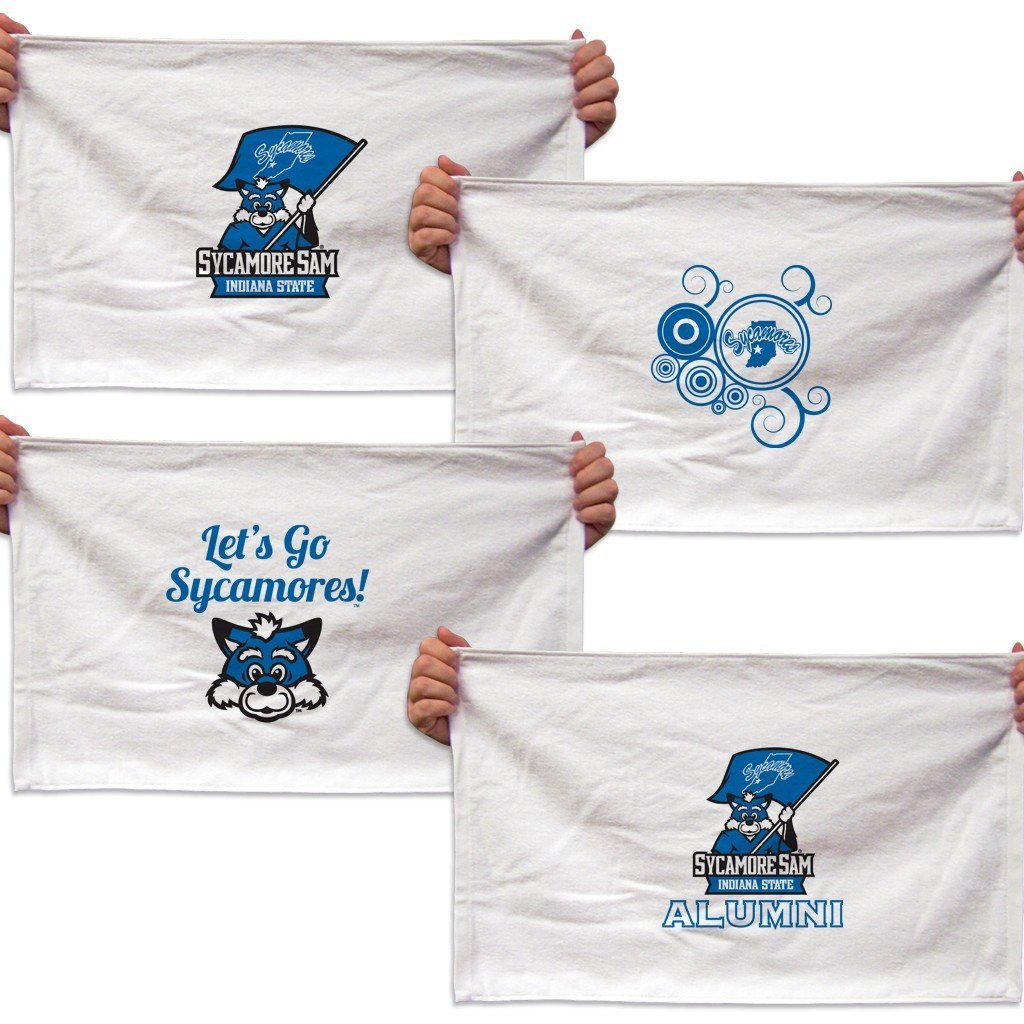 Indiana State University Rally Towel - Set of 4 Designs