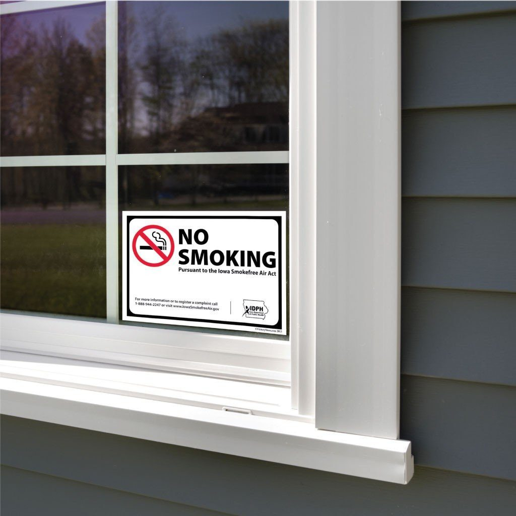 Iowa Smokefree Air Act No Smoking Sign or Sticker