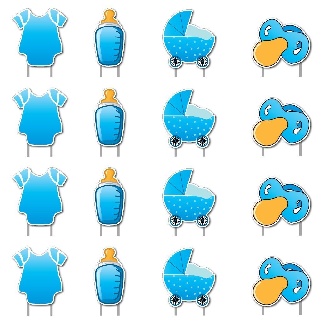 It's a Boy! Yard Card Baby Announcement Set 17 pcs total - FREE SHIPPING