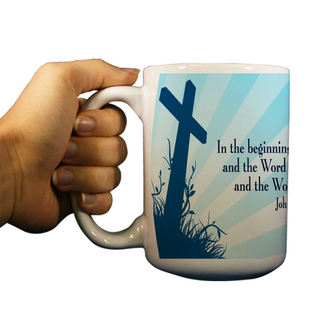 John 1:1 Religious 15oz Coffee Mug