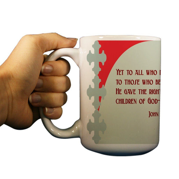 John 1:12 Religious 15oz Coffee Mug