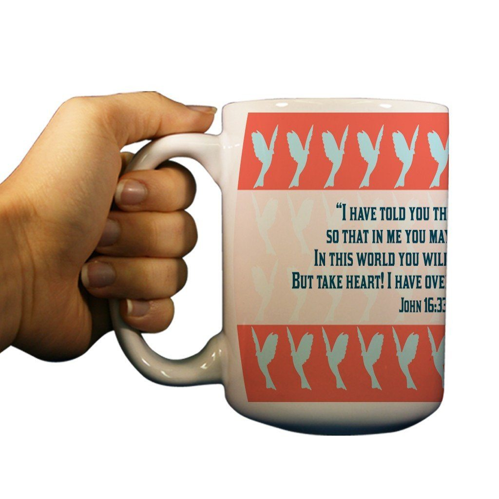 John 16:33 Religious 15oz Coffee Mug