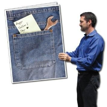 2'x3' Giant Father's Day Card with Envelope - Jeans Pocket and Note