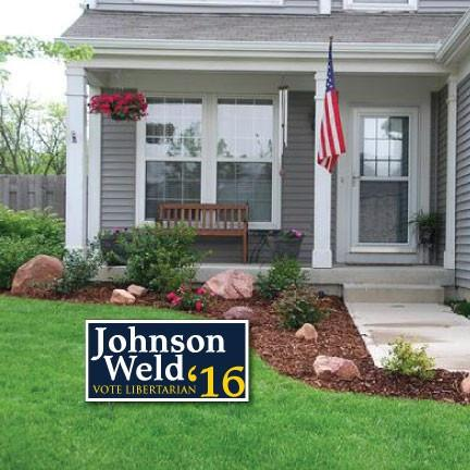 "Johnson Weld 12""x24"" Corrugated Plastic Yard Sign - 2 Sided with EZ Stakes"