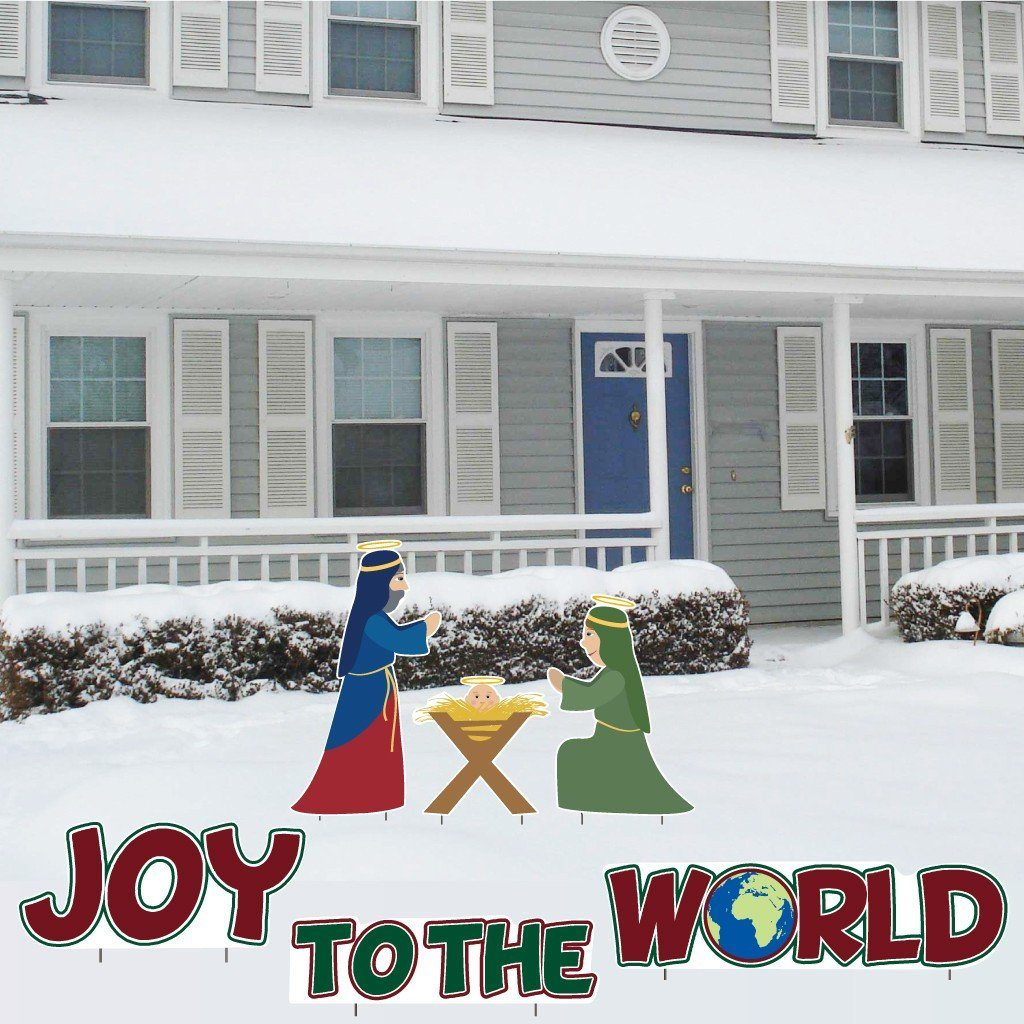 Joy to the World Nativity Christmas Lawn Decorations - FREE SHIPPING