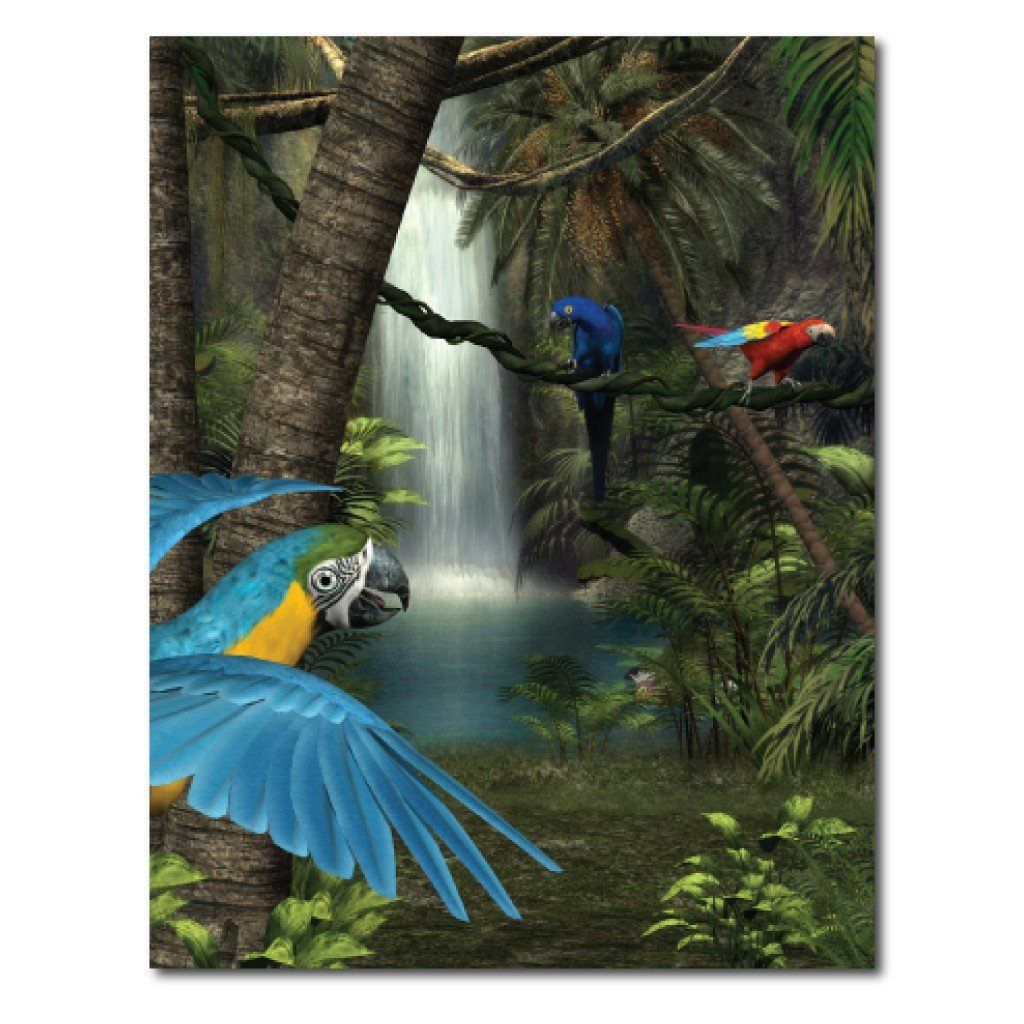 Tropical Paradise Vinyl Photography Backdrop - 8'x10' or 8'x14'