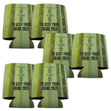 "Wedding Themed Can Coolers - Set of 6 - ""To have and to hold and..."" -"