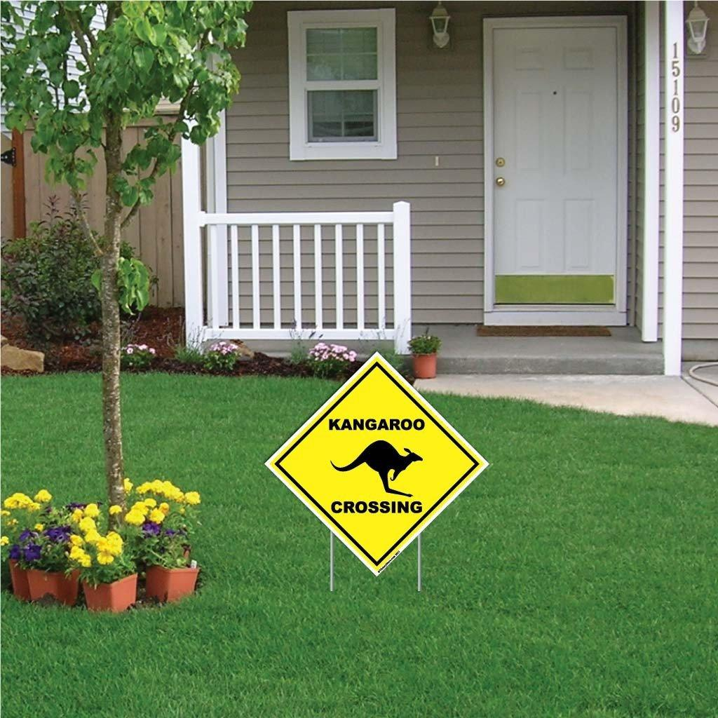 Kangaroo Crossing Sign or Sticker