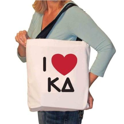 I Love Kappa Delta Canvas Tote Bag