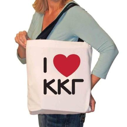 I Love Kappa Kappa Gamma Canvas Tote Bag