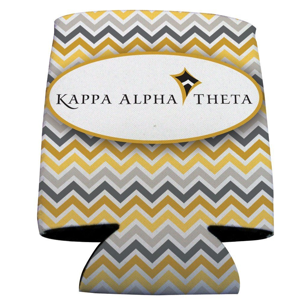 Kappa Alpha Theta Can Cooler Set of 12 - Chevron Stripes FREE SHIPPING