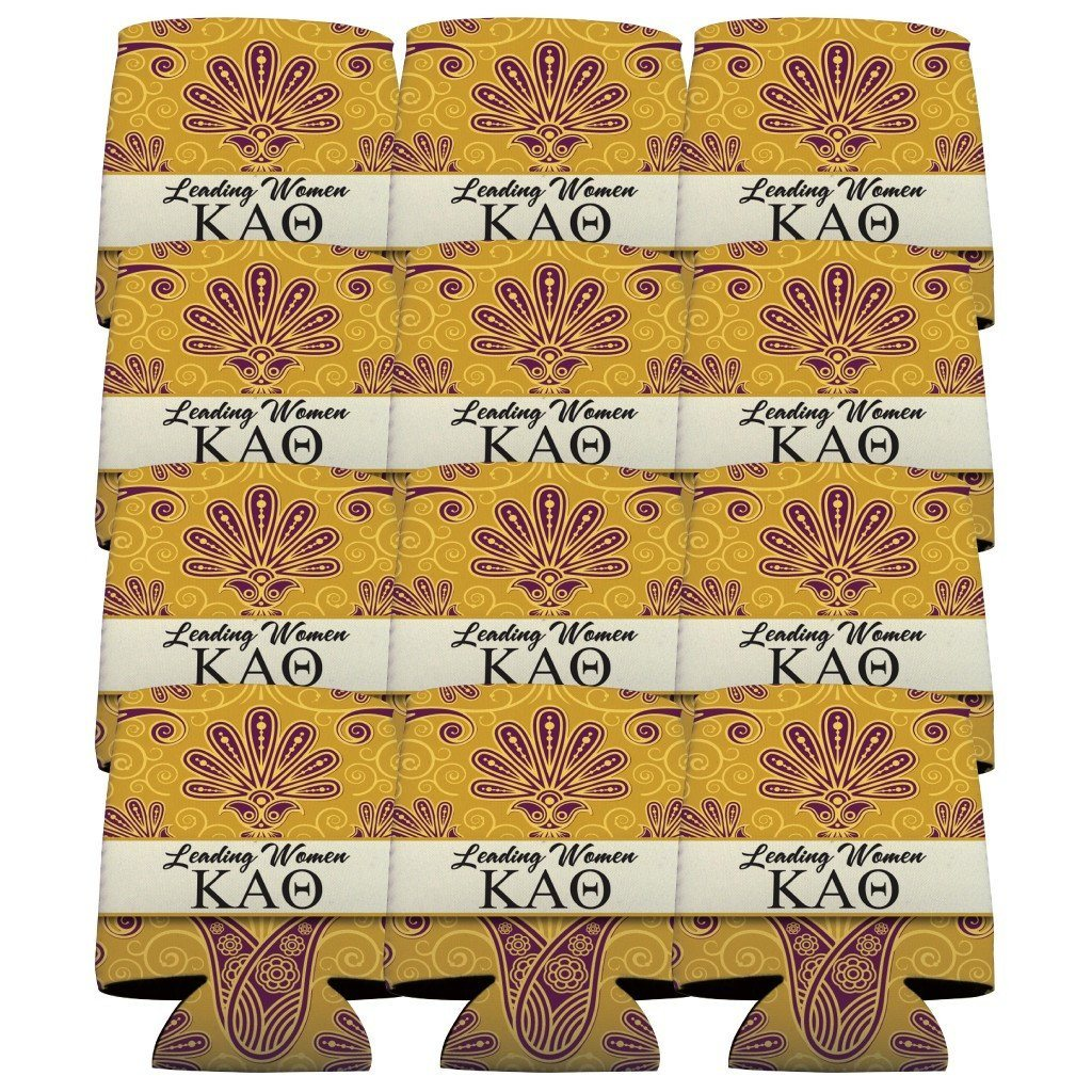 Kappa Alpha Theta Can Cooler Set of 12 - Leading Women FREE SHIPPING