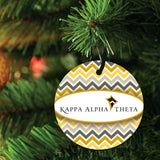 Kappa Alpha Theta Ornament - Set of 3 Shapes; Circle, Rectangle, and