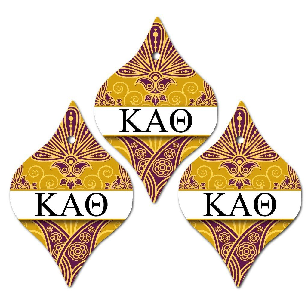 Kappa Alpha Theta Ornament - Set of 3 Tapered Shapes - FREE SHIPPING