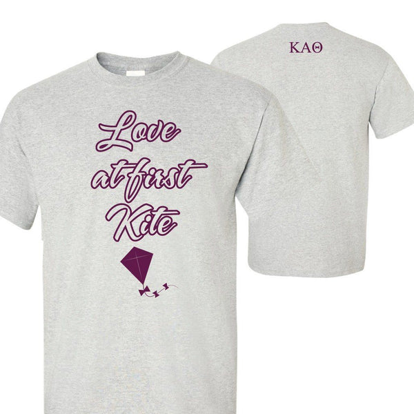 "Kappa Alpha Theta Love at First Kite Standard T-Shirt "" White, Gold, &"