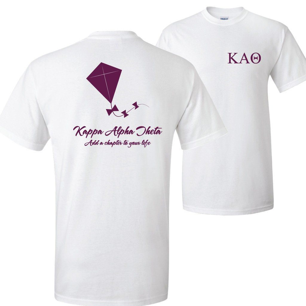 Kappa Alpha Theta Add a Chapter to Your Life Standard T-Shirt - FREE SHIPPING