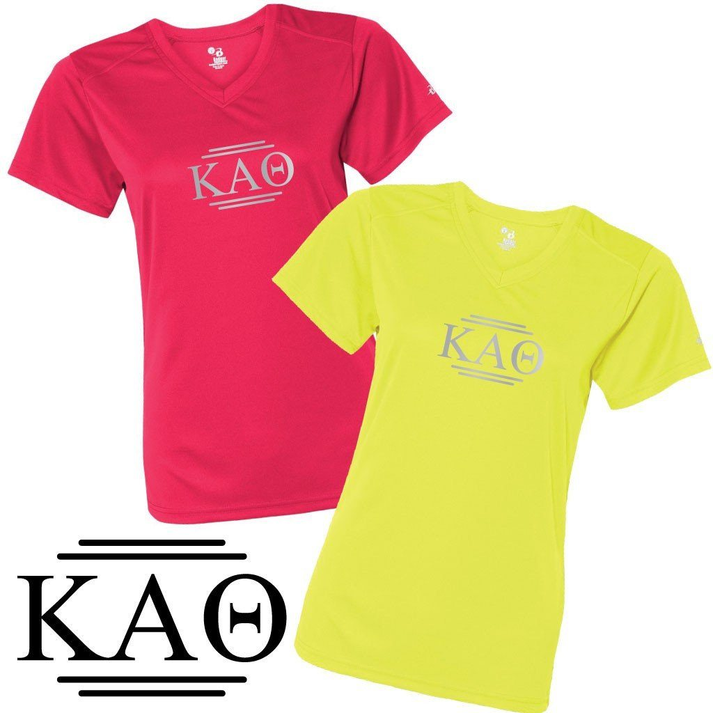 Kappa Alpha Theta Women's SafetyRunner Reflective V-neck Performance - FREE SHIPPING