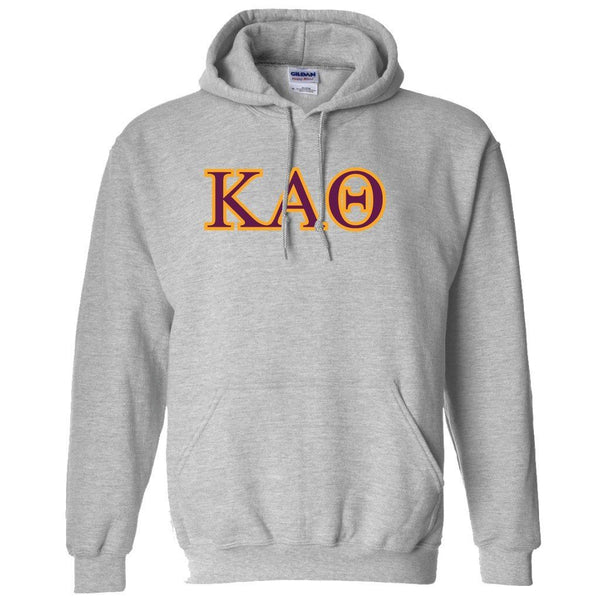 "Kappa Alpha Theta Hooded Sweatshirt "" White & Sport Gray"