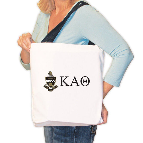 Kappa Alpha Theta Canvas Tote Bag - Coat of Arms and KAO