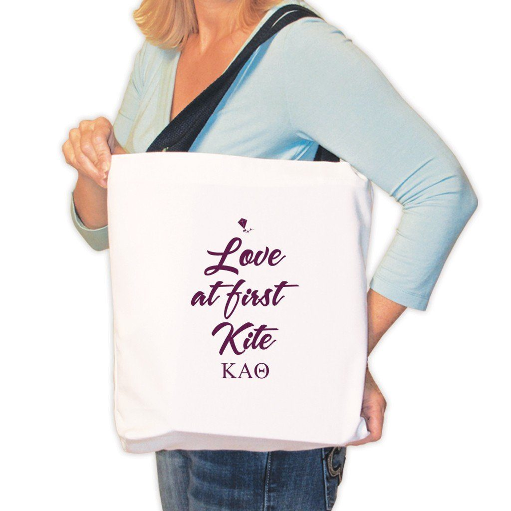 Kappa Alpha Theta Canvas Tote Bag - Love at First Kite