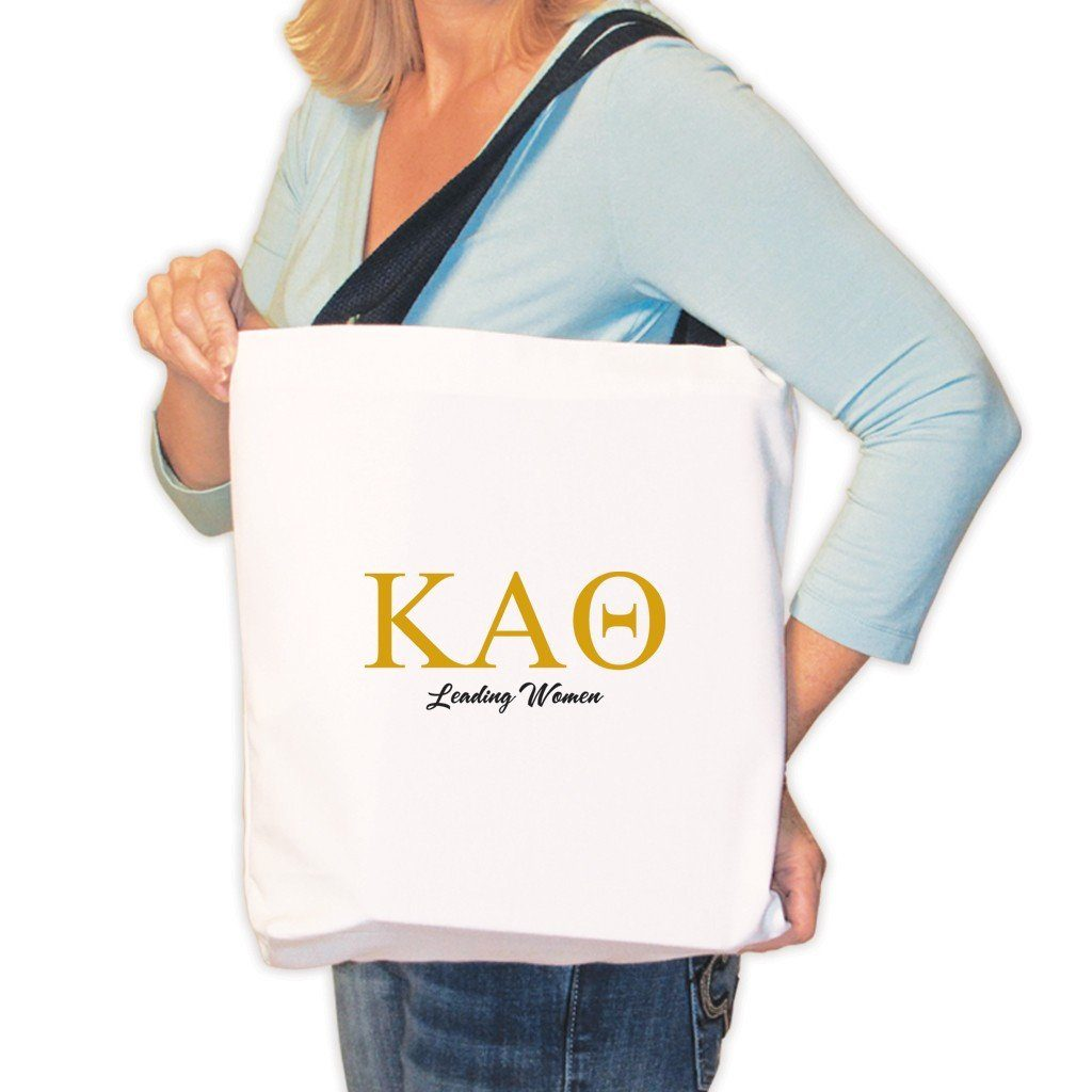 Kappa Alpha Theta Canvas Tote Bag - KAO Leading Women