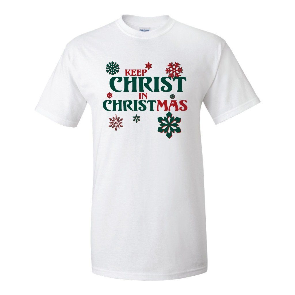 Keep Christ in Christmas Religious Christmas T-Shirt - FREE SHIPPING