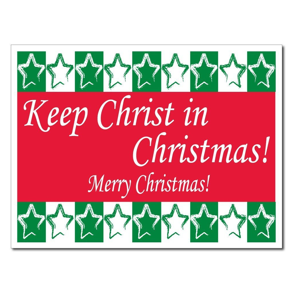 Keep Christ in Christmas Lawn Display (Green and Red) Yard Sign Decoration - FREE SHIPPING