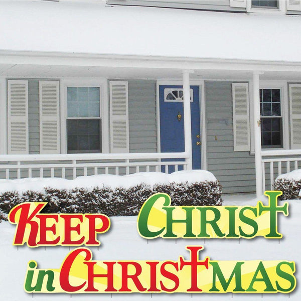 Keep Christ in Christmas Shaped Corrugated Plastic Yard Decorations