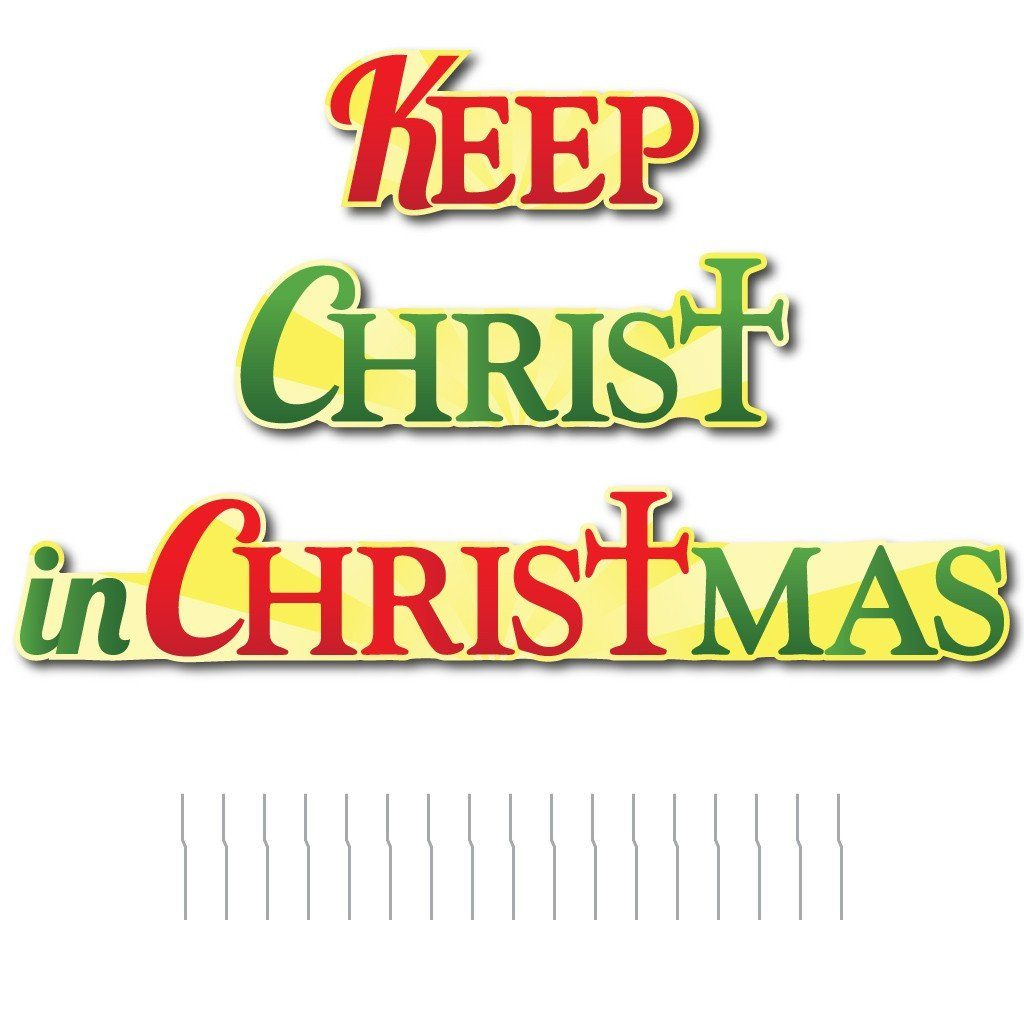 Keep Christ in Christmas Shaped Corrugated Plastic Yard Decorations - FREE SHIPPING